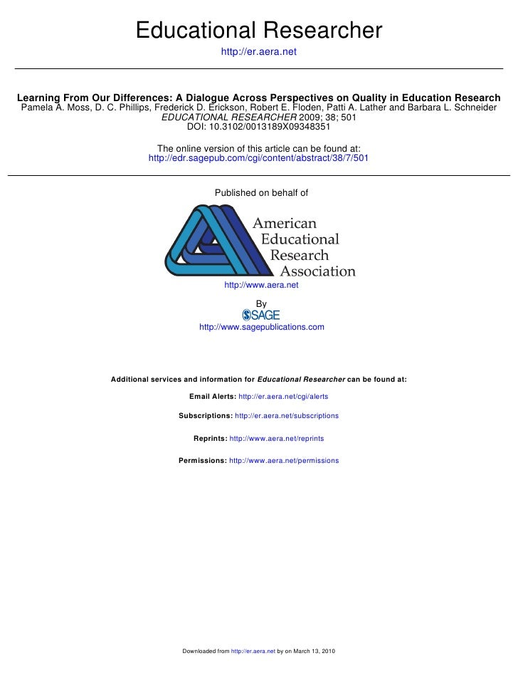 Educational Researcher                                                      http://er.aera.net    Learning From Our Differ...