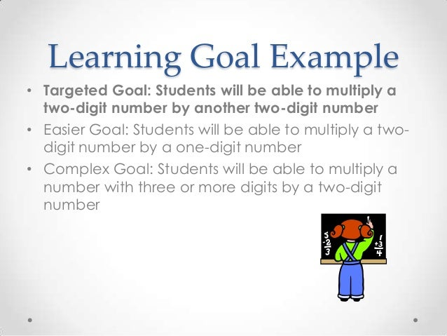 """learnings from goal Statement on learning goals and assessment that an academic department should have """"learning goals"""" seems obvious."""