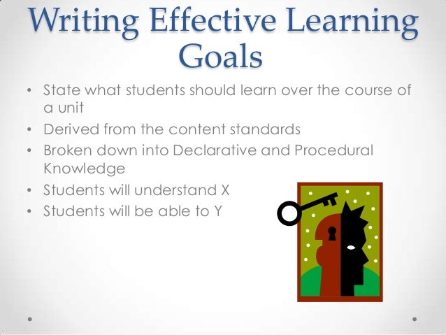 "learnings from goal Statement on learning goals and assessment that an academic department should have ""learning goals"" seems obvious."