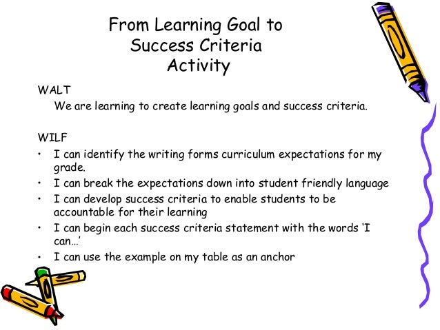 learnings from goal