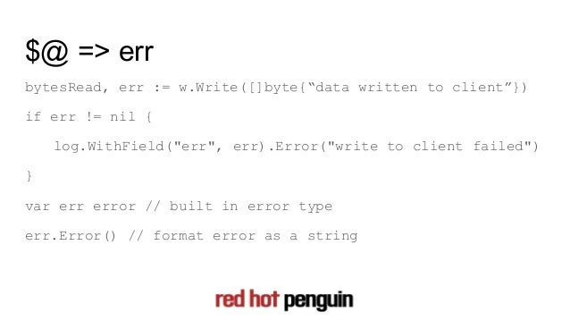 Learning go for perl programmers