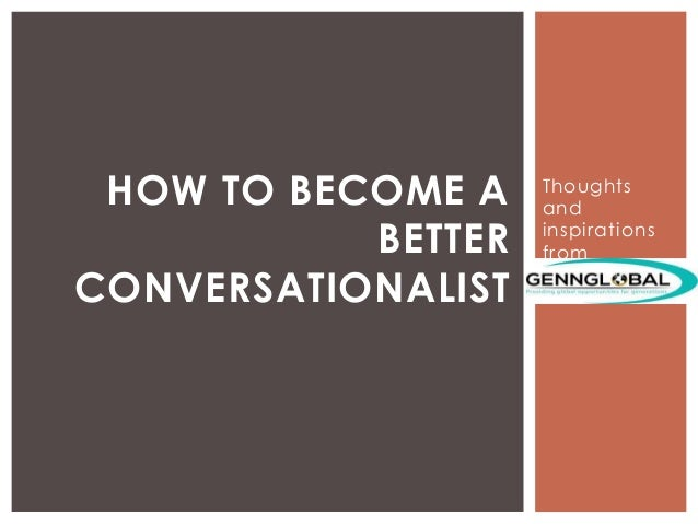 how to be a conversationalist pdf