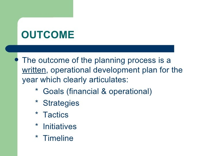 how to build a development plan