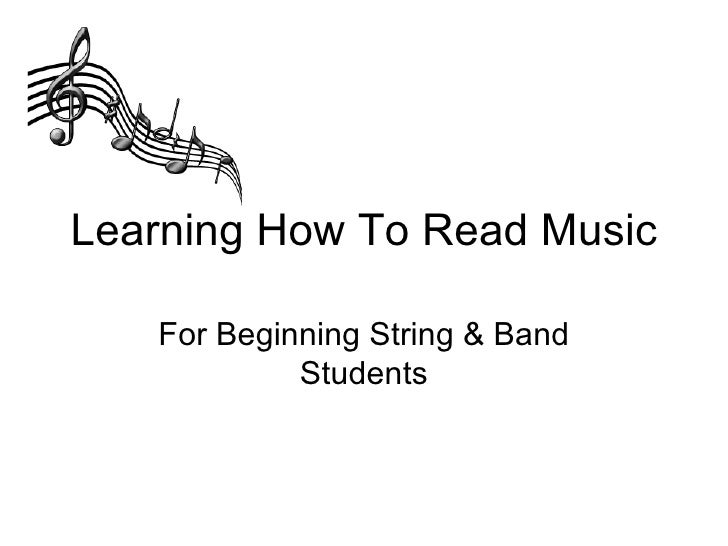i want to learn how to read music
