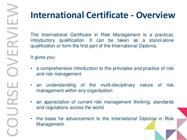 Learning Induction - IRM Qualifications Overview