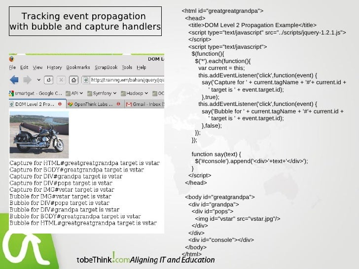 jQuery : Events are where it happens!