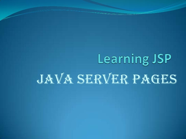 Learning jsp
