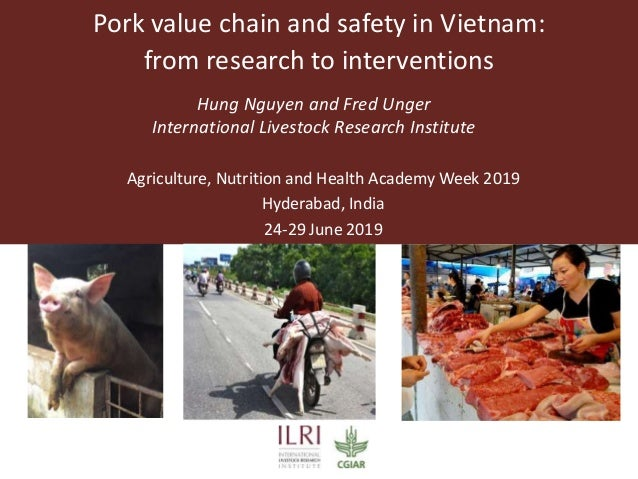 Pork value chain and safety in Vietnam: from research to interventions Hung Nguyen and Fred Unger International Livestock ...