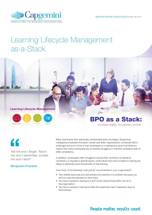 the way we do itBusiness Process Outsourcing Learning Lifecycle Management as-a-Stack Many businesses face seemingly unres...