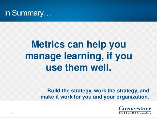 Learning Metrics: Building Your Training Scorecard