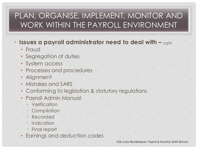 payroll 4 - Payroll Duties