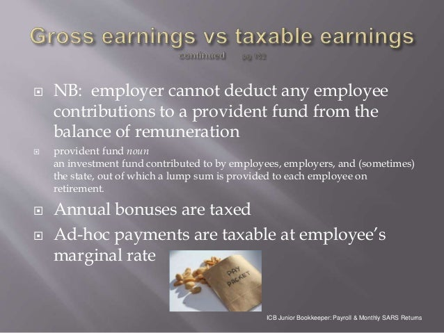 ICB PAYROLL & MONTHLY SARS RETURNS Learning module 6