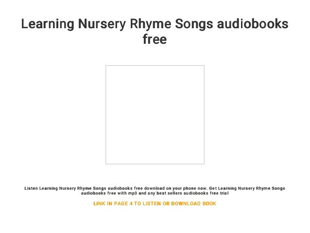 Learning Nursery Rhyme Songs Audiobooks Free
