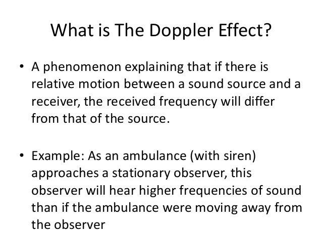 The Doppler Effect Classroom Example