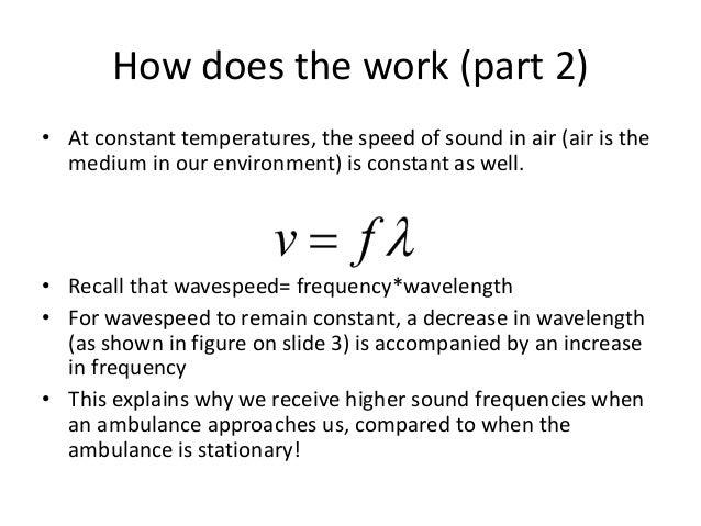 The Doppler Effect: Classroom example!