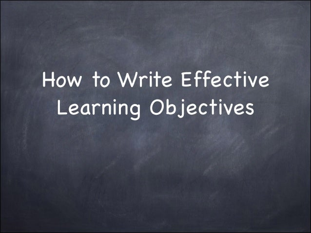 Learning objectives power point