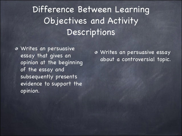 learning objectives power point 11 difference between learning objectives
