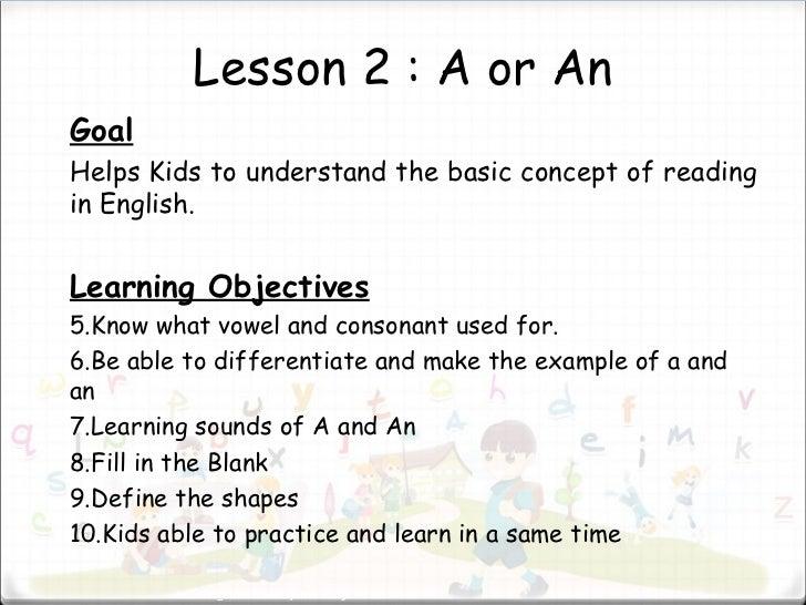 goal & objective presentation
