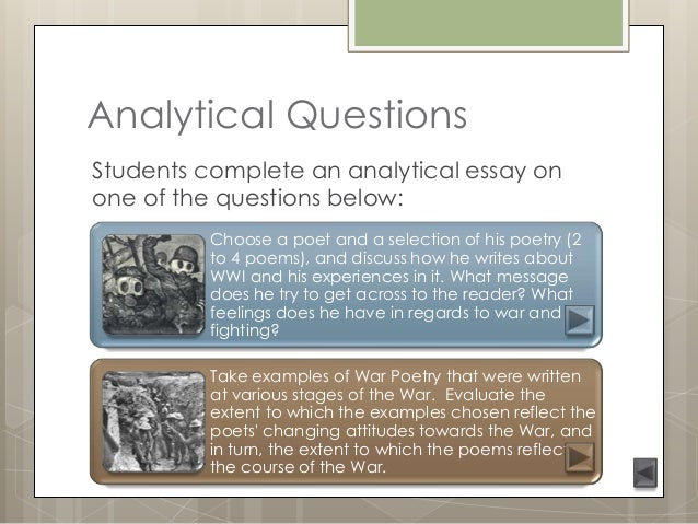poem essay questions Improve your poetry grades highlight the key words of the essay question and be sure you address each of these in your answer - marks will be lost if you don't.