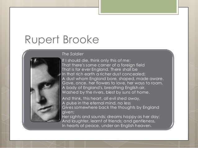 an analysis of the soldier a poem by rupert brooke