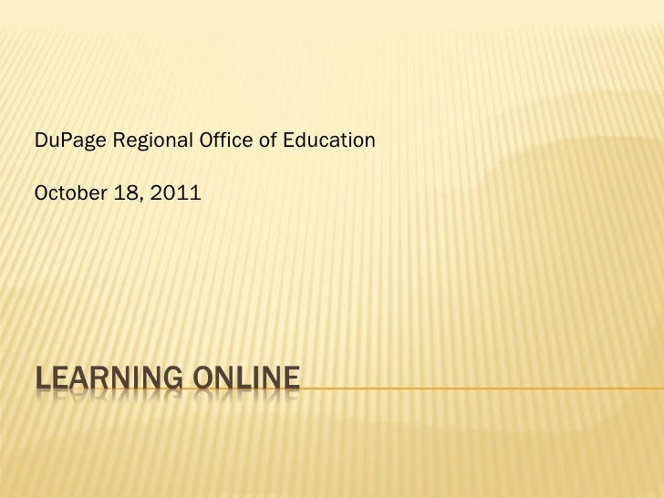 DuPage Regional Office of Education October 18, 2011