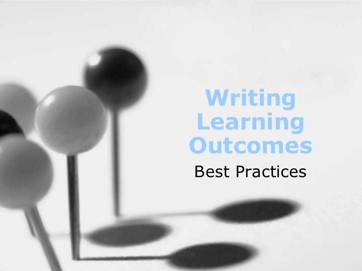 WritingLearningOutcomesBest Practices