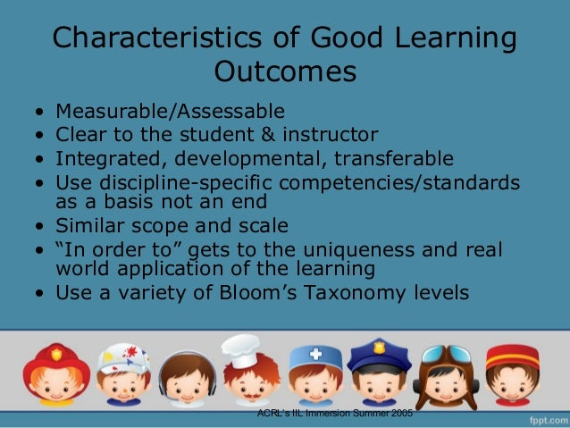 dissertation learning outcomes