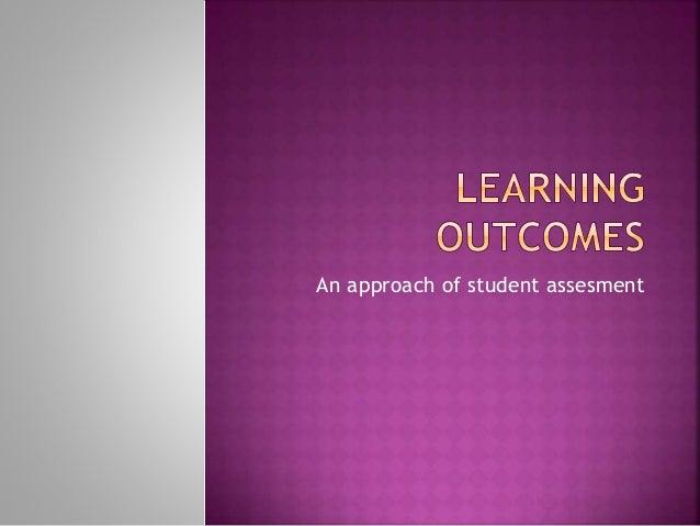 An approach of student assesment