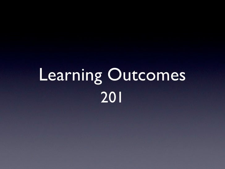 Learning Outcomes       201