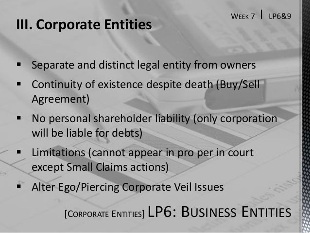 doctrine of separate legal entity and corporate veil By praphrut chatprapachai themselves are held liable only for the amount of unpaid on the shares respectively held by them 16 the core of separate legal entity between shareholders this rule shows that this act applies piercing the corporate veil doctrine by defining the legal.