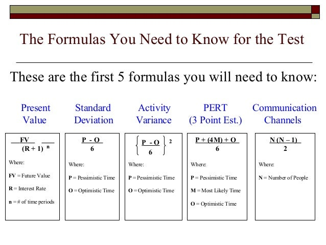 Pmp formula cheat sheet all the 16 formulae you need to know to.