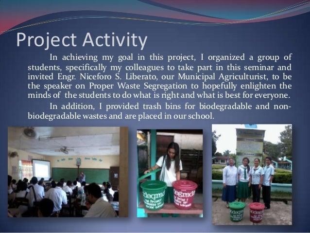 proper waste segregation in school