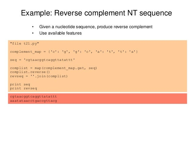 Learning pyt... Reverse Complement Python