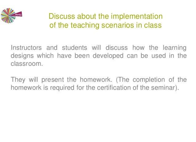 Collaborative Teaching Degree : Collaborative design of teaching scenarios