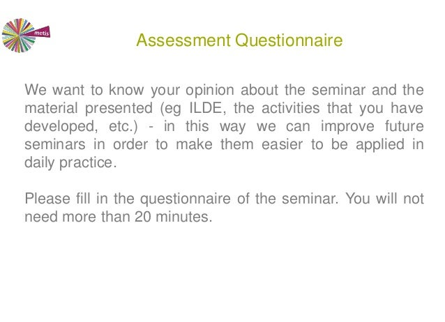 Collaborative Teaching Questionnaire : Collaborative design of teaching scenarios