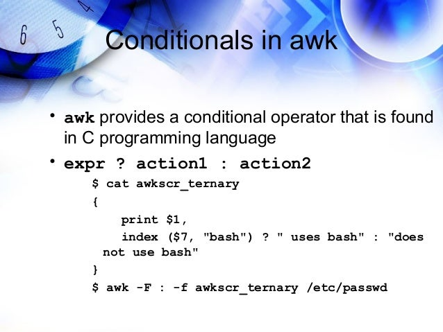 Conditionals In Awk 46