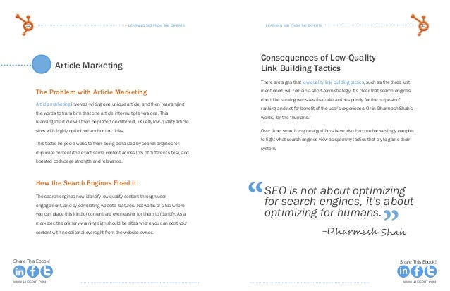 learning seo from the expertsLearning seo from the experts32 33 www.Hubspot.com www.Hubspot.com Share This Ebook! Share Th...