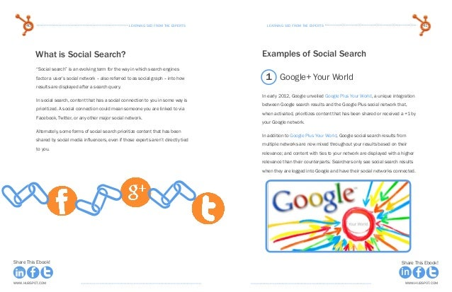 learning seo from the expertsLearning seo from the experts40 41 www.Hubspot.com www.Hubspot.com Share This Ebook! Share Th...