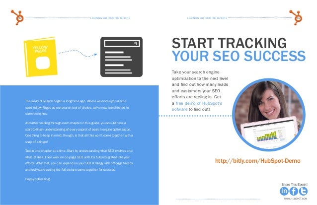 learning seo from the expertsLearning seo from the experts60 61 www.Hubspot.com www.Hubspot.com Share This Ebook! Share Th...