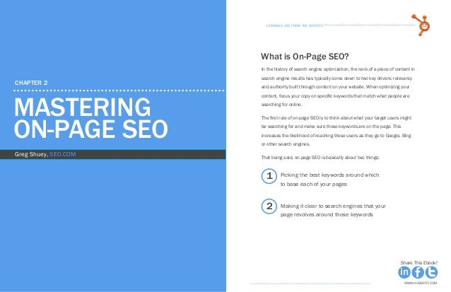 learning seo from the expertsLearning seo from the experts12 13 www.Hubspot.com www.Hubspot.com Share This Ebook! Share Th...