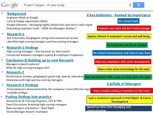 Google's Project Oxygen
