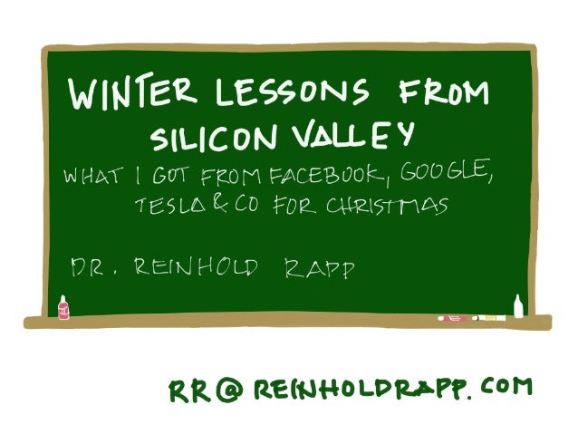 Learnings from silicon valley by reinhold rapp