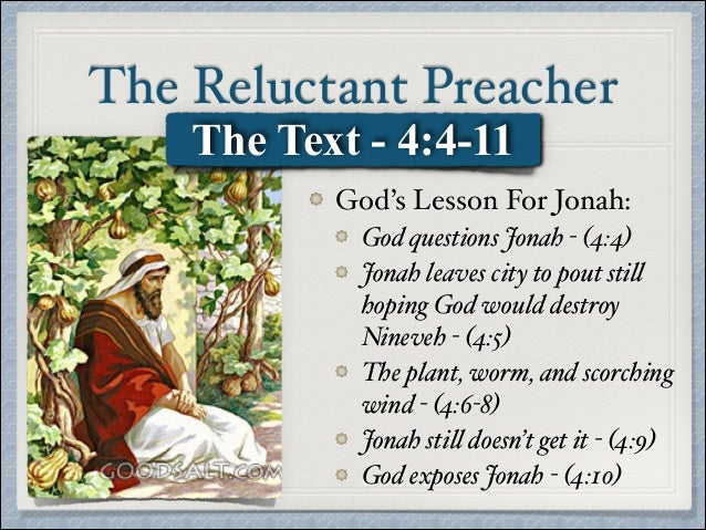 Jonah The Reluctant Preacher