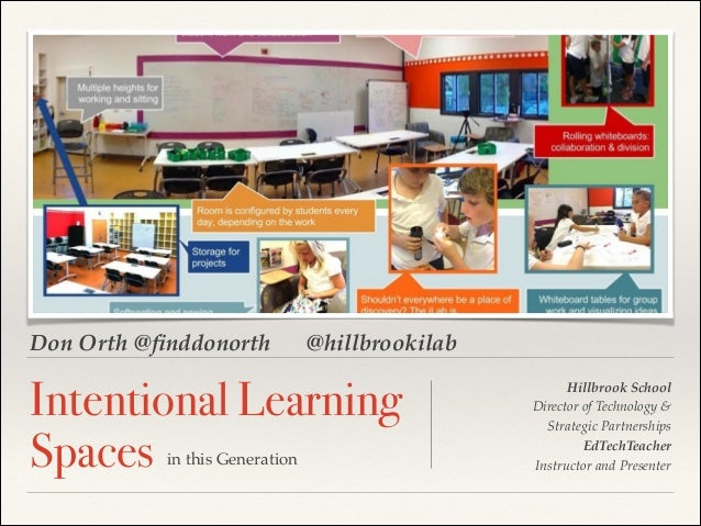 Don Orth @finddonorth  @hillbrookilab  Intentional Learning Spaces in this Generation  !  !  Hillbrook School! Director of ...