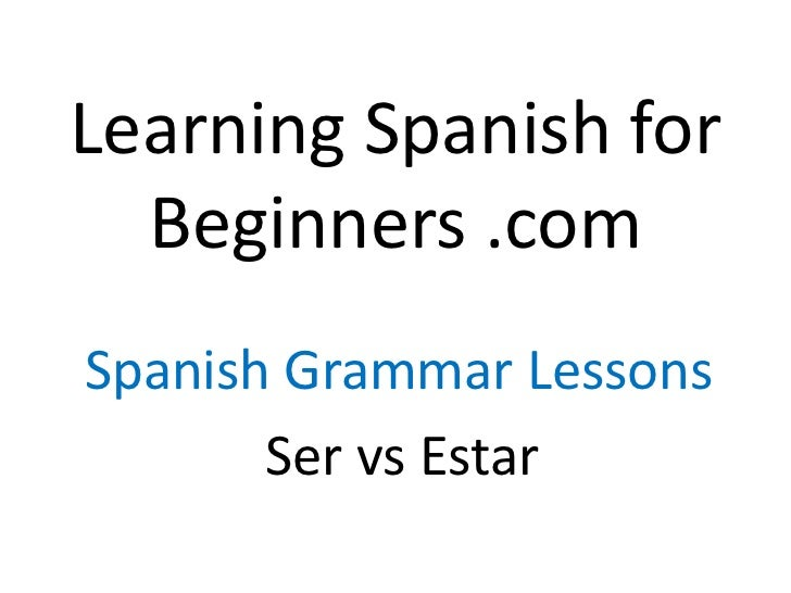 learning spanish for beginners pdf