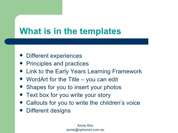 early years learning framework planning templates - learning stories