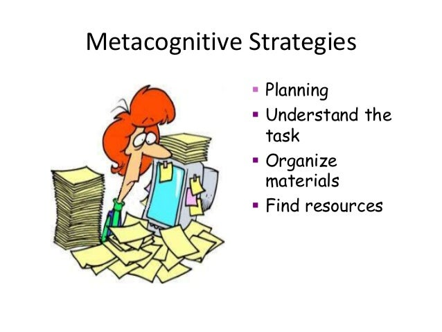 metacognition strategy use and instruction