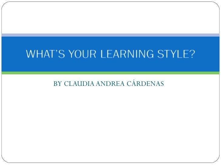BY CLAUDIA ANDREA CÁRDENAS
