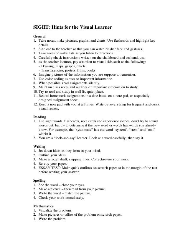 learning style inventory 7