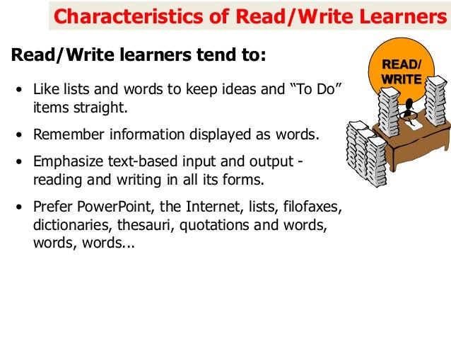 Writing reading learning style